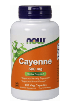 You can find an high amount of cayenne in Cayenne from reputable NOW Foods brand