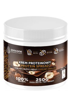Protein cream with chocolate and hazelnut flavor